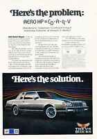 1981 Buick Regal Coupe - v6 - Classic Vintage Advertisement Ad D05
