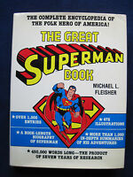 THE GREAT SUPERMAN BOOK by M. Fleischer- SIGNED by LOIS LANE Actress NOEL NEILL
