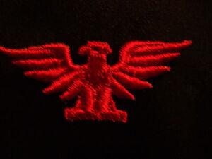 EAGLE BIRD, RED, EMBROIDERY APPLIQUE MILITARY PATCH EMBLEM LOT (60 DOZEN)