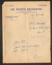 """PARIS (XIII°) USINE de JOUETS / OURS en PELUCHE """"LES JOUETS ENCHANTES"""" en 1961"""