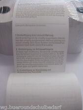 50 x EC CASH Kassenrollen, Thermorollen , 57 x 36 mm,12 lfm,mit Lastschrifttext