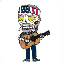 Willie Nelson - Weather Proof Die Cut Vinyl Day of the Dead Sticker