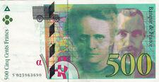 BILLET BANQUE 500 Frs pierre et marie CURIE 1994 SUP 690