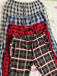 Lot of 4 USED Croft & Barrow & Northwest Men's Size Large L Pajama Lounge Pants