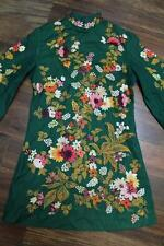 Fine hand embroidered floral chinese/indonesian? boho couture runway jacket MAO
