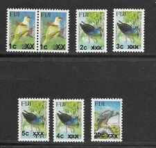 FIJI , various Bird Surcharges MINT NH