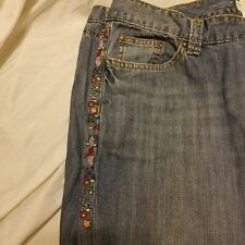 Tommy Hilfiger Hipster Denim Jeans Beaded size 16 Woman's