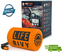 Life Bivy Emergency Sleeping Bag Thermal Bivvy Use As Waterproof Blanket Mylar S