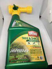 Ortho Max Tree & Shrub Insect Control 32 OZ NEW Scotts Spray w Hose 32oz