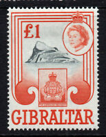 Gibraltar £1 c1960-62  Mounted Mint Stamp (2501)