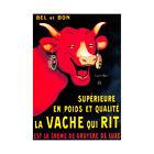 Advert Food Dairy Cheese Cow Horn Gruyere France Framed Wall Art Print