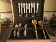 Gorham Sterling Silver Silverware Flatware Medici 42 Stamped Pieces plus Chest