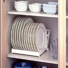 Foldable Dish Plate Drying Rack Organizer Drainer Plastic Storage Holder Kitchen