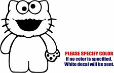 "Vinyl Decal Sticker - Hello Kitty Cookie Monster Sesame Street Car Truck Fun 9"""