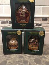 Longaberger Exclusive Boyds Bears Ornaments (Lot of 3) New In Boxes