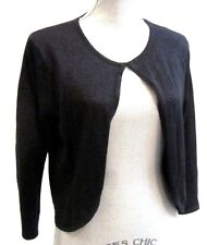 Tailor B. Moss fine knit Cardigan Sweater shrug shimmer sparkle crop SIZE L NWT
