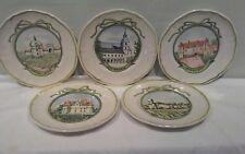 Set of Five Longchamp Wine Chateau Canape/Snack Plates