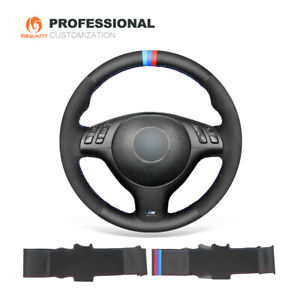 Genuine Leather Suede Car Steering Wheel Cover for BMW E36 E46/5 5 Series M3 M5