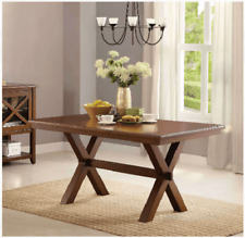 DINING TABLE Kitchen Wooden Rectangular Table, Simple and Sleek Design, Brown