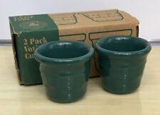 Longaberger Pottery Ivy Votive Candle Holders