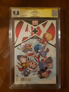 A + X #1 Young Variant CGC 9.8 - Signed by Skottie Young