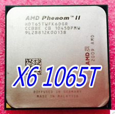 AMD Phenom II X6 1065T CPU Processor HDT65TWFK6DGR 2.9GHz AM3 95W 6-Core Tested