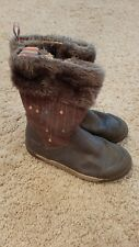 clarks leather winter /autumn boots girls size 11F