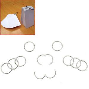 10X Hinged Ring Book Binder Craft Photo Album Keyring Scrapbook Binding Rings