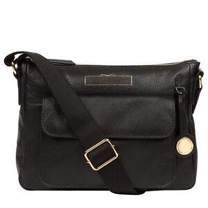 Black Leather Cross Body Shoulder Bag