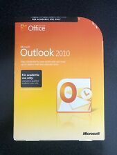MICROSOFT OUTLOOK 2010 FULL RETAIL ACADEMIC VERSION GENUINE WITH PRODUCT KEY