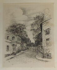 Eau-forte originale par Jean Frelaut 1936