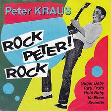 "Peter Kraus ROCK PETER! ROCK 1992 45er Single 7"" Vinyl Platte Mint"