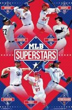 MLB Baseball SUPERSTARS Poster Aaron Judge, Stanton, Mike Trout, Harper, Bryant