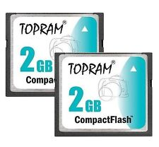 Lot 2 x TOPRAM 2GB CF 2G CF Compact Flash 100X memory card high Speed w/case