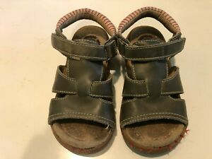 Boy's LIVIE & LUCA Brown Leather Sandals - Size 10