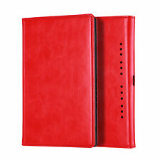 For Nintendo Switch PU Leather Magnetic Flip Foldable Stand Case Cover Red