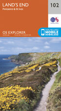 Lands End Penzance St Ives 102 Explorer Map Ordnance Survey With Digital Downloa