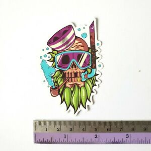 SANTA CRUZ Skull Sticker Bomb Scary Cartoons Skateboard Stickers