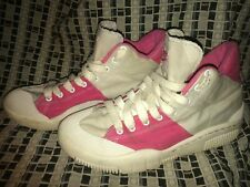 Vtg 80S 90S 2008 Womens 9.5 New Wave Retro Pink White Canvas Sneakers Shoes