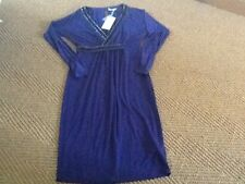 Artigiano beaded  purple coloured dolman jersey dress  size 12 brand new