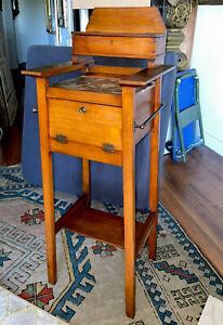 Antique Arts & Crafts Gentleman's Shaving Stand/Table