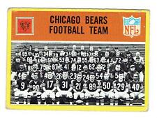 1967 Philadelphia Football Card #25 - Chicago Bears Football Team