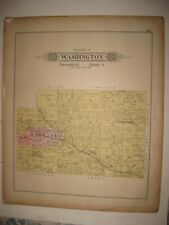 ANTIQUE 1902 WASHINGTON TOWNSHIP SALINEVILLE COLUMBIANA COUNTY OHIO HANDCOLR MAP