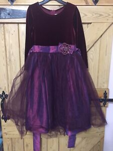 Jayne Copeland Girls Dress Age 6- Purple