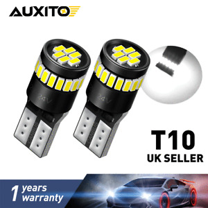 T10 CAR BULBS LED ERROR FREE CANBUS XENON WHITE W5W 501 SIDE LIGHT BULB 12V-24V