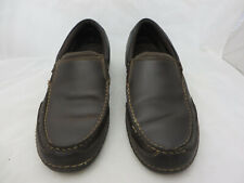 Rockport Brown Leather Casual Slip On Loafers driving Shoes Mens 9 M