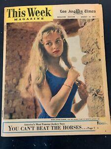 Brigitte Bardot Vtg Los Angeles Times Magazine Newspaper 1954