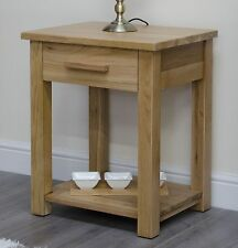 Arden solid oak furniture storage side end lamp table