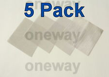 "(5 Pack) 4"" x 4"" -  100 Micron True Fine Stainless Steel Mesh Screen! 100u"