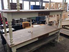 Vintage industrial European farmhouse kitchen table #1913 2.2 mt in byron